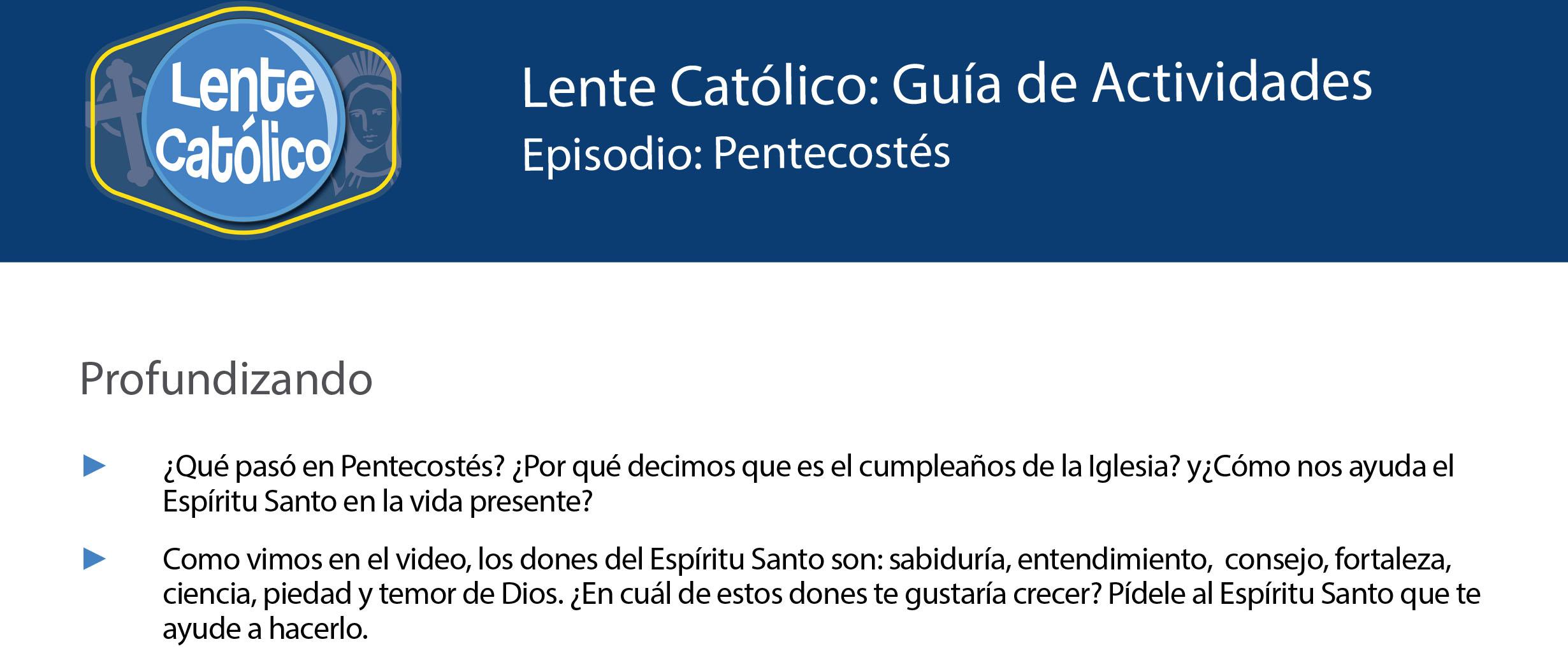 Pentecostés  photo guide